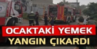 Alanyada ocakta unutulan yemek yangın çıkardı