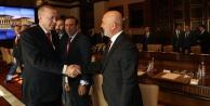 Başkan Çavuşoğlu, Cumhurbaşkanı Erdoğan#039;la görüştü