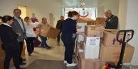 Elazığ yardım tırına sağlık çalışanlarından tam destek
