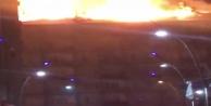 Elazığda deprem sonrası bir binada yangın çıktı