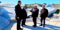 Türkdoğan zarar gören seraları inceledi