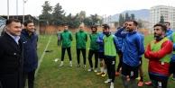 Yücel#039;den Kestelspor#039;a kritik maç öncesi moral ziyareti