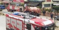 Alanya#039;da işyerinde yangın paniği