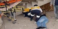 Alanyada inşaattan düşen işçi yaralandı