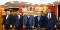 Bakan Çavuşoğlu#039;ndan Başkan Şahin#039;e taziye ziyareti