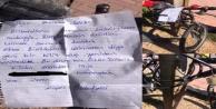 Belediye ekiplerinden kırdıkları kilit için özür notu