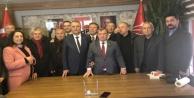 Karadağ ve ekibi de Bayar'ın devir teslim törenine katıldı