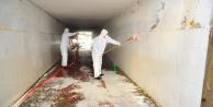 Alanya sanayisi ve alt geçitler dezenfekte edildi