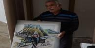 112#039;den malzeme siparişi veren 65 yaş üstü ressam, ekiplere tablo hediye etmek istedi