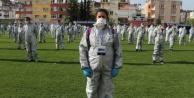 250 kişilik yıkanabilir maske dağıtım ekibi işbasında