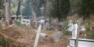 Alanya#039;da mezarlıklarda koronavirüs önlemi
