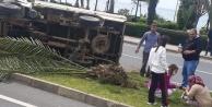 Alanya#039;da yürekleri ağza getiren kaza