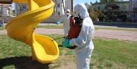 Antalya#039;nın 19 ilçesi 32 bin litre dezenfektan ile temizlendi