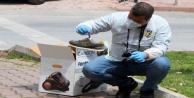 Çaldığı süpürgeyi bisikletle taşırken polisi gördü, ayakkabısını bile bırakıp kaçtı