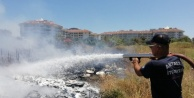 Oteller bölgesinde korkutan yangın