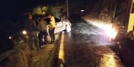 Alanya#039;da faciayı kaya parçası engelledi