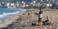 Alanya#039;da sabahın köründe sahile akın ettiler