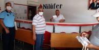 Alanya Otogarı#039;nda maske dağıtıldı