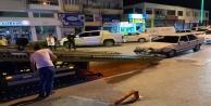 Polisten kaçarken polislerin bulunduğu araca çarpan şahıs yakalandı