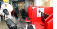 Alanya Belediyesi internet kafeleri dezenfekte ediyor
