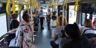 Alanya#039;da halk otobüslerinde Covid-19 denetimi
