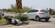 Alanya#039;da otomobille motosiklet çarpıştı: 1 ağır yaralı var