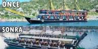 Alanya#039;nın en büyük korsan gemisini yeniden dizayn etti