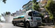 Alanya sokaklarının kurban kokusuna Gül kokulu dezenfektan