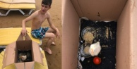 Alanya#039;ya tatile civcivleriyle geldi
