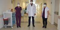 ALKÜ EAH#039;nde göğüs doktorları başhekimle birlikte hasta vizitinde