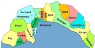 Antalya#039;nın ilçelerinin isimlerinin veriliş öyküleri...