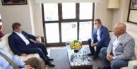Davutoğlu ve Böcek#039;ten Şahin#039;e ziyaret