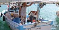 Gazipaşa#039;da dalgalı denizde can pazarı