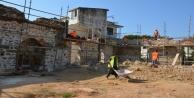 Alanya Gülevşen Caminin restore çalışmaları sürüyor
