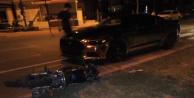 Alanyada otomobil ve motosiklet çarpıştı: 2 yaralı