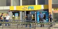 Bıçakla gelip kargo gönderme bahanesiyle girdiği PTTyi soydu