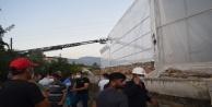 Gazipaşa#039;da sera naylonu çeken işçi elektrik akımına kapılarak can verdi