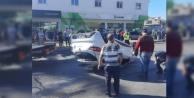 Alanya#039;da feci kaza! Otomobil takla attı