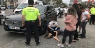 Alanyada cip ile elektrikli bisiklet çarpıştı: 1 yaralı
