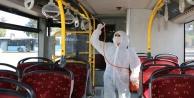 Antalyada 550 toplu taşıma aracı dezenfekte ediliyor