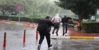 Antalyada dolu yağışı