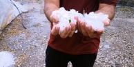 Dolu yağışı seralara zarar verdi