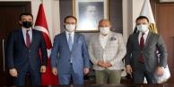 Vergi Dairesi heyeti Başkan Şahini ziyaret etti