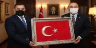Yücel#039;den Bakan Çavuşoğlu#039;na ziyaret