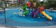 Alanya Belediyesi o alanları dezenfekte ediyor