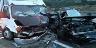 Antalya -Korkuteli yolunda trafik kazası:1 ölü, 4 yaralı