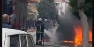 Alanya#039;da çalıştırdığı otomobil bir anda alev aldı