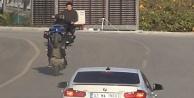 Alanya#039;da motosikletli gençlerin ölüme davetiye çıkarması cezasız kalmadı!