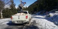 Alanya#039;daki o yolda buzlama çalışması yapıldı