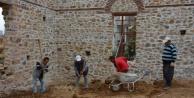 Alanya Gülevşen Camii#039;nin ana duvarları tamamlandı